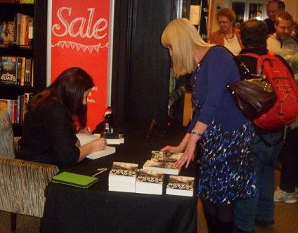 Alison Littlewood signing copies of A Cold Season