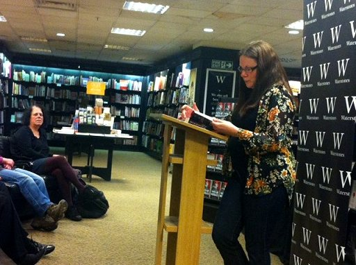 Alison Littlewood reading from Path of Needles at Waterstone's, Leeds