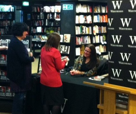 Alison Littlewood signing copies of Path of Needles