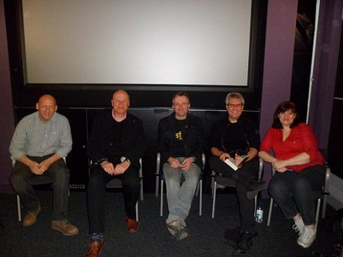 L to R: David Moody, Simon Clark, Conrad Williams, Paul Kane, Marie O'Regan