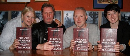 Jo Fletcher, Les Edwards, Stephen Jones and Nicola Budd - Curious Warnings launch