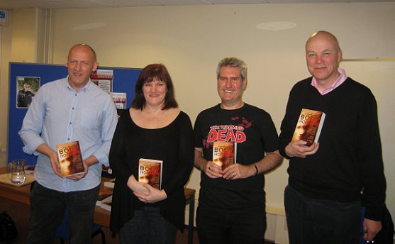 L to R: David Moody, Marie O'Regan, Paul Kane and Simon Clark