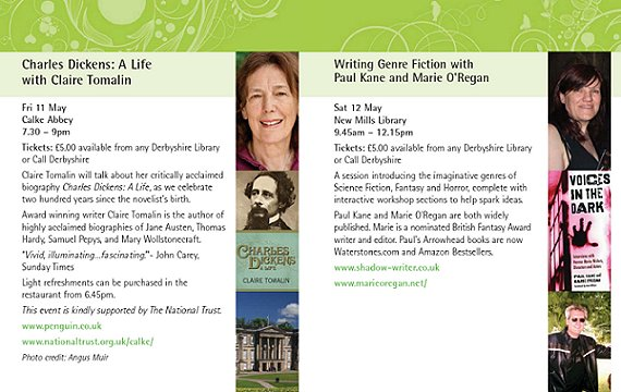Derbyshire Literary Festival, Marie O'Regan and Paul Kane workshop