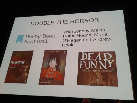 Double the Horror event, with Johnny Mains, Rufus Hound, Marie O'Regan and Andrew Hook
