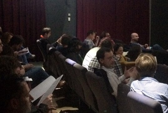 Some of the audience at Highlighting Horror: Scriptwriting