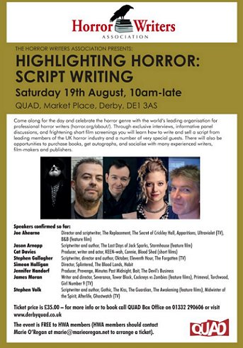 Highlighting Horror: Scriptwriting Flyer