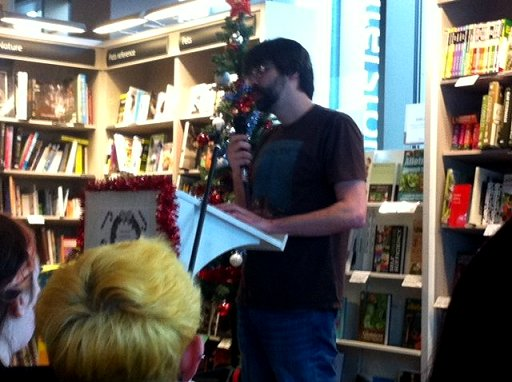 Joe Hill at waterstones Liverpool One