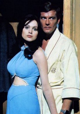 Madeline Smith, with Roger Moore