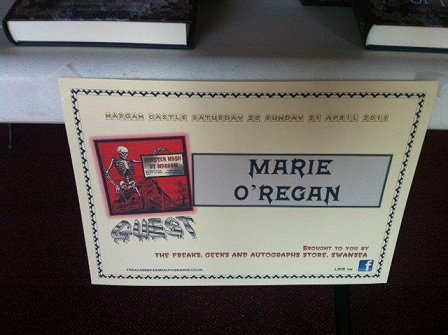 Marie O'Regan, Monster Mash, Margam