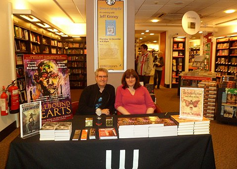 Paul Kane, Marie O'Regan, Hellbound Hearts signing, Nottingham