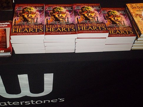 Hellbound Hearts signing, Nottingham Waterstone's
