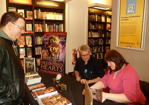 Paul Kane and Marie O'Regan, signing at Waterstone's, Nottingham, for Hellbound Hearts