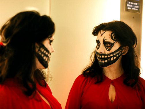 Alice Lowe in a scene from Prevenge