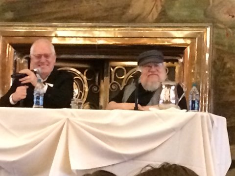 L to R: Leslie Klinger and George R.R. Martin