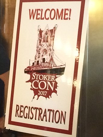 Registration sign - Welcome to StokerCon 2017